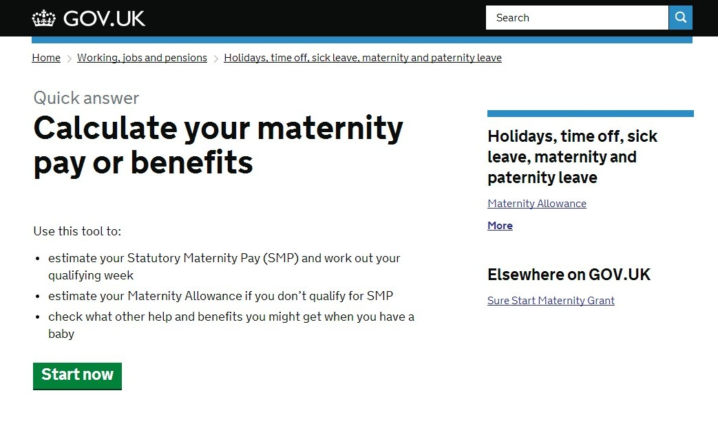 Gov.uk - maternity pay and leave