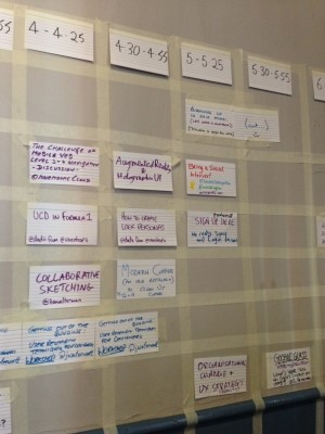 Grid of Topic UX Camp London