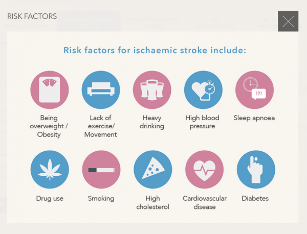 Risk Factors for ischaemic Stroke
